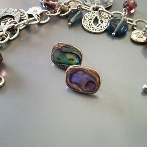 Jewelry - VTG sterling silver & abalone earrings